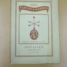 Harta color  Asia de est Justus Perhes Gotha Germania 1941
