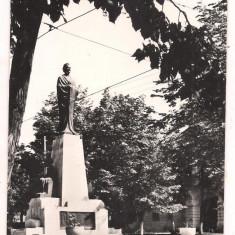 #carte postala(ilustrata)-IASI-Statuia lui M.Eminescu - Carte Postala Moldova dupa 1918, Necirculata, Fotografie