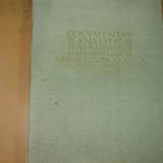R. Bordenache H. Stern Documentar analitic studiul ordinelor si elementelor de arhitectura clasica antichitatea greco - romana si renasterea Buc 1957