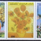 LIBIA 1986 - PICTURA SI REVOLUTIE 5 VALORI, NEOBLITERATE - E0113