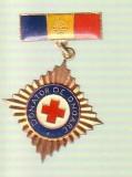 Insigna Crucea Rosie Romania DONATOR DE ONOARE