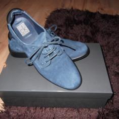 Pantofi Calvin Klein piele intoarsa dama - Pantof dama Calvin Klein, Bleumarin, Marime: 36