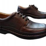Pantofi barbati piele naturala Gitanos-220 m, Marime: 40, 41, 42, 43, 44, 45, Culoare: Maro