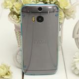 Bumper husa silicon glow in the dark HTC ONE 2 M8 + folie protectie ecran + expediere gratuita, Alt model telefon HTC, Verde