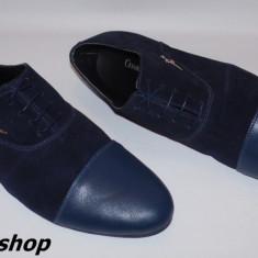 Pantofi CESARE PACIOTTI din Piele Intoarsa si Piele Naturala Model de Sezon !! - Pantofi barbati Cesare Paciotti, Marime: 41, 42, Culoare: Bleumarin
