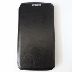 Husa flip pentru telefon HUAWEI Ascend Y 511 + folie ecran cadou - Husa Telefon Huawei, Negru, Piele Ecologica, Toc
