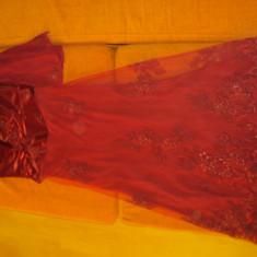 Rochie de seara, Marime: 48, Culoare: Rose, Maxi, Fara maneca, Poliester