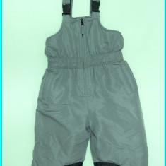 DE FIRMA _ Pantaloni salopeta iarna, impermeabili, DENIM _ copii | 18 - 24 luni, Marime: Alta, Culoare: Gri, Baieti