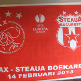 Steaua Bucuresti - Ajax Amsterdam (14 februarie 2013) - steag plastic, DE COLECTIE