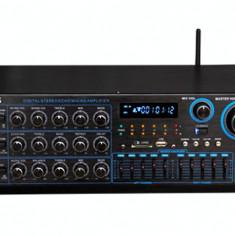 STATIE /AMPLIFICATOR PROFESIONAL 250 WATT CU TEHNOLOGIE BLUETOOTH INCLUSA,MIXER,MP3 STICK USB,CARD,RADIO FM,INTRARI MICROFOANE