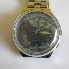 RAKETA PERPETUAL CALENDAR CADRAN ALBASTRU - Ceas barbatesc, Elegant, Mecanic-Manual, Calendar perpetuu, Analog, 1970 - 1999