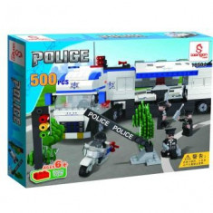 JOC POLITIE IN ACTIUNE DIN PIESE TIP LEGO,COMPATIBIL 100%.CU 500 PIESE MARCA LOONGON.LEGO POLICE.