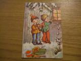 FELICITARE   * Anul Nou cu Colindatori   -  dim. : 8,5x13cm ( fara plic ), Necirculata, Fotografie