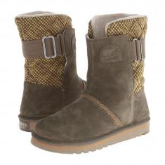 Boots femei SOREL The Campus™   100% originali   Livrare cca 10 zile lucratoare   Aducem pe comanda orice produs din SUA, Khaki, Piele intoarsa