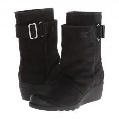 Boots femei SOREL Toronto™ Mid | 100% originali | Livrare cca 10 zile lucratoare | Aducem pe comanda orice produs din SUA - Cizma dama Sorel, Piele intoarsa, Negru