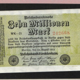 [ Y ] - Germania 10 milion mark 22 August 1923 UNC !!!