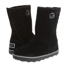 Boots femei SOREL Glacy™   100% originali   Livrare cca 10 zile lucratoare   Aducem pe comanda orice produs din SUA, Negru, Piele intoarsa