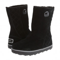 Boots femei SOREL Glacy™ | 100% originali | Livrare cca 10 zile lucratoare | Aducem pe comanda orice produs din SUA - Cizma dama Sorel, Piele intoarsa, Negru