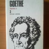 W Goethe - Opere 3, Teatru II - Roman, Anul publicarii: 1986