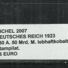 DEUTSCHES REICH 1923 - 330 A. 50 Mrd. M