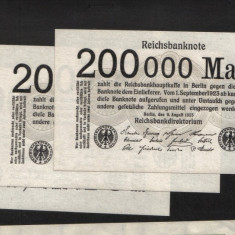 [ Y ] - Germania 200.000 mark 9 August 1923 UNC !!!