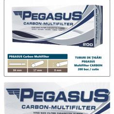 2.000 tuburi de tigari PEGASUS Multifiltru cu carbon activ pentru injectat tutun - Foite tigari