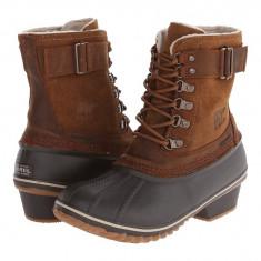 Boots femei SOREL Winter Fancy™ Lace II | 100% originali | Livrare cca 10 zile lucratoare | Aducem pe comanda orice produs din SUA - Cizma dama Sorel, Cauciuc, Maro