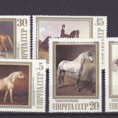 Fauna pictura ,cai,URSS.