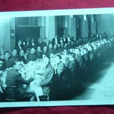 Fotografie- Delegatia Militara Romana la Praga- Dineu Restaurant Manes 1931 - Fotografie veche