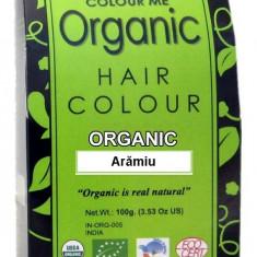 Vopsea de par henna organica, Castaniu, Semi-permanenta