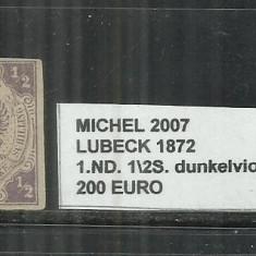 Lubeck 1872 - 1, ND.1\2S., Nestampilat