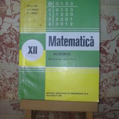 """Ion D. Ion - Matematica Algebra manual pentru clasa a XII a """"A2469"""", Clasa 12, Alte materii"""