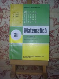 Ion D. Ion - Matematica Algebra manual pentru clasa a XII a A2469