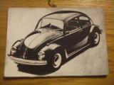 Fotografie alb-negru -- tema: Limuzuna VOLKSWAGEN -- fotografie pe suport carton; dim.: 11x7,5 cm