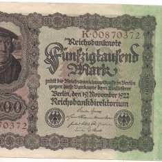 Bancnota-GERMANIA-50000 marci 1922
