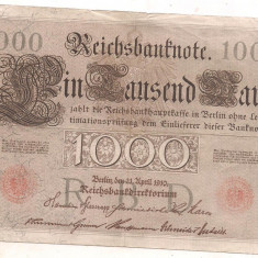 Bancnota-GERMANIA-1000 marci 1910