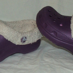 Papuci copii CROCS, Marime: 27.5, Fete, Mov