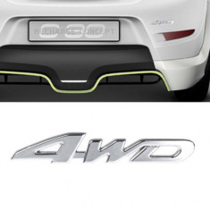 Emblema auto 4x4 4WD logo badge adeziv inclus - Embleme auto, Universal