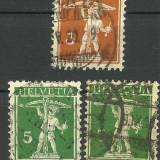 ELVETIA 1909--1911, Stampilat