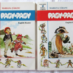 """PAGY - PAGY. English Reader"", Vol. 1+2, Mariana Taranu, 1996. Carti noi, Alta editura"
