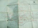 Harta administrativa Republica socialista Romania dupa legea din 16 02 1968