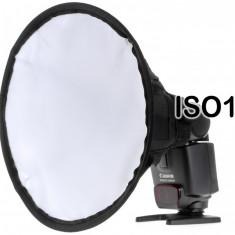 Softbox Bounce Diffuser Rotund pentru Blitz Flash Yongnuo Nikon Canon, Altul
