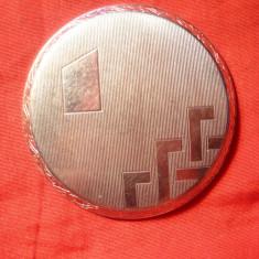 Capac spate- Ceas Art Deco, alpaca argintata, Diametru int.=4, 5 cm - Piese Ceas