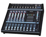 MIXER AMPLIFICAT 6 CANALE CU PUTERE 500 WATT,CITITOR MP3 PLAYER USB,EFECTE DSP,