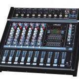 MIXER AMPLIFICAT 6 CANALE CU PUTERE 500 WATT, CITITOR MP3 PLAYER USB, EFECTE DSP, - Mixere DJ