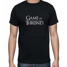 Tricou logo Game of Thrones - Tricou barbati, Marime: S, M, L, XL, XXL, Culoare: Alb, Negru, Maneca scurta, Bumbac