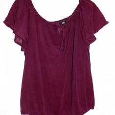 Bluza de dama eleganta din voal mov lila marca H&M marimea M - Bluza dama H&m, Marime: M, Maneca scurta