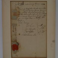 Certificat masonic - masonerie - anul 1793 !!!