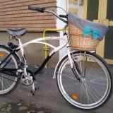 Bicicleta Dama United Cruiser cross raleigh Sidney Cruiser, Numar viteze: 3, Aluminiu, Negru-Alb