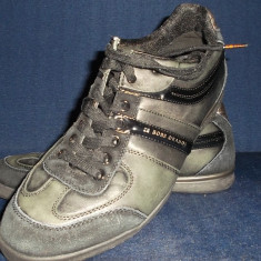 VAND PANTOFI HUGO BOSS. - Pantofi barbat Hugo Boss, Marime: 42, Culoare: Negru, Piele naturala, Casual